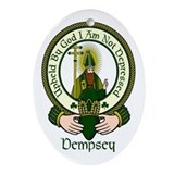 Dempsey Clan Motto Ornament (Oval)