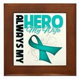 Ovarian Cancer Hero Wife Framed Tile