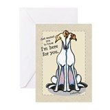 Here for You Greyhound Greeting Cards (Pk of 10)
