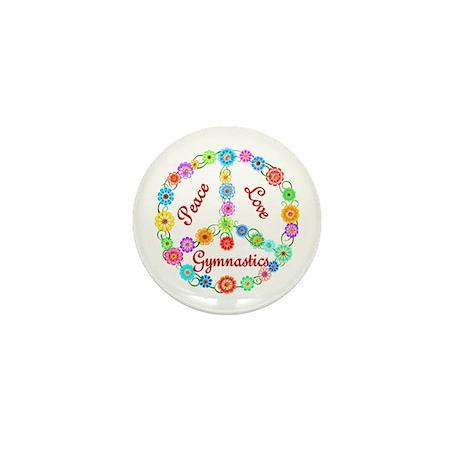 Gymnastics Peace Sign Mini Button (100 pack)