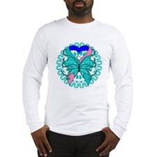 Thyroid Cancer Butterfly Long Sleeve T-Shirt