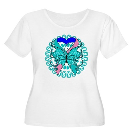 Thyroid Cancer Butterfly Women's Plus Size Scoop N