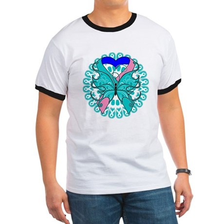 Thyroid Cancer Butterfly Ringer T