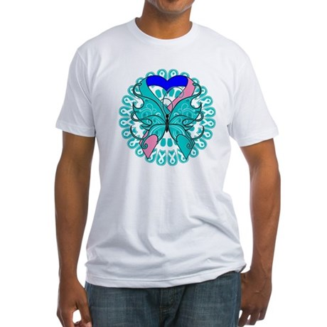 Thyroid Cancer Butterfly Fitted T-Shirt
