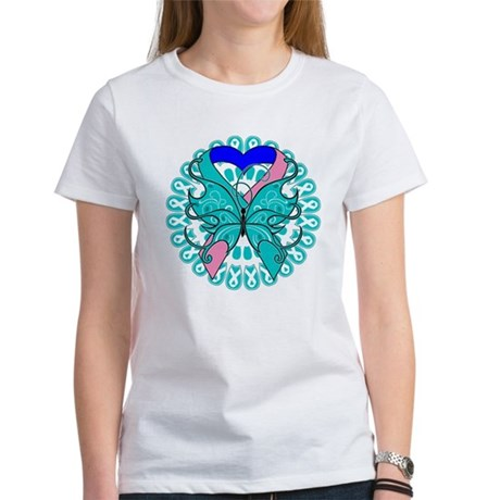 Thyroid Cancer Butterfly Women's T-Shirt