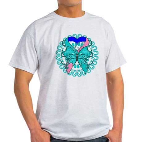 Thyroid Cancer Butterfly Light T-Shirt