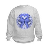 Stomach Cancer Butterfly Sweatshirt