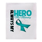 Ovarian Cancer Hero Mommy Throw Blanket