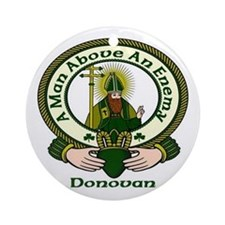 Donovan Clan Motto Ornament (Round)