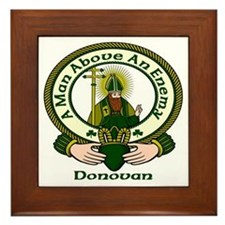 Donovan Clan Motto Framed Tile