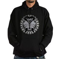 Skin Cancer Butterfly Hoodie (dark)