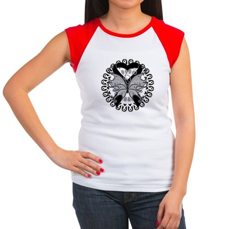 Skin Cancer Butterfly Women's Cap Sleeve T-Shirt