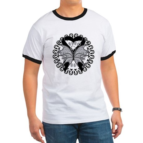 Skin Cancer Butterfly Ringer T