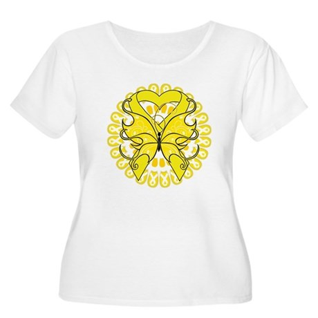 Sarcoma Cancer Butterfly Women's Plus Size Scoop N