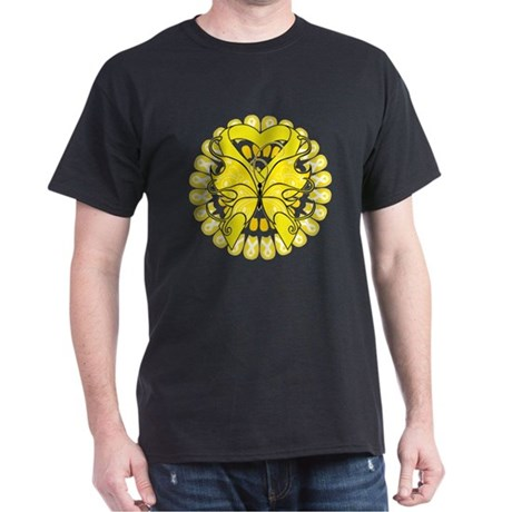 Sarcoma Cancer Butterfly Dark T-Shirt