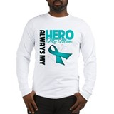 Ovarian Cancer Hero Mom Long Sleeve T-Shirt