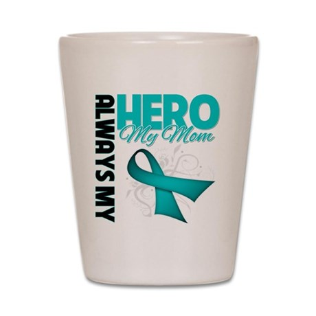 Ovarian Cancer Hero Mom Shot Glass