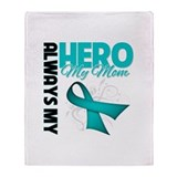 Ovarian Cancer Hero Mom Throw Blanket