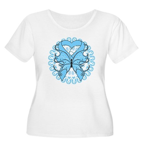 Prostate Cancer Butterfly Women's Plus Size Scoop