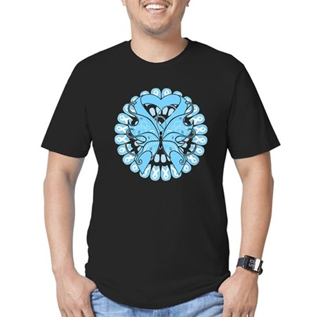 Prostate Cancer Butterfly Men's Fitted T-Shirt (da
