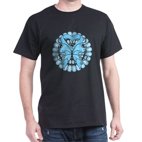 Prostate Cancer Butterfly Dark T-Shirt