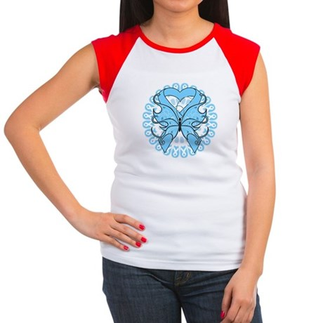 Prostate Cancer Butterfly Women's Cap Sleeve T-Shi