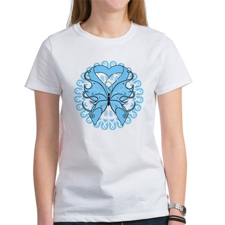 Prostate Cancer Butterfly Women's T-Shirt