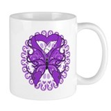 Pancreatic Cancer Butterfly Mug