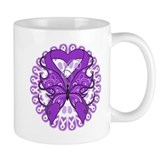 Pancreatic Cancer Butterfly Coffee Mug