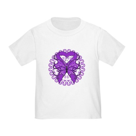 Pancreatic Cancer Butterfly Toddler T-Shirt