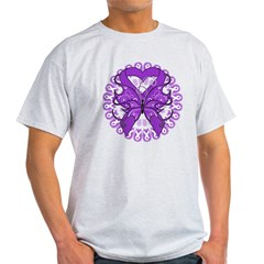 Pancreatic Cancer Butterfly Light T-Shirt