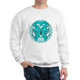 Ovarian Cancer Butterfly Sweatshirt