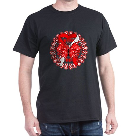 Oral Cancer Butterfly Dark T-Shirt