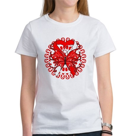 Oral Cancer Butterfly Women's T-Shirt