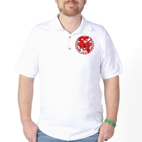 Oral Cancer Butterfly Golf Shirt