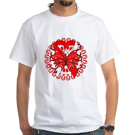Oral Cancer Butterfly White T-Shirt