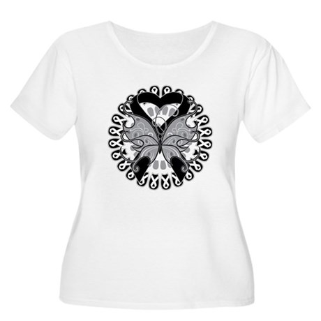 Melanoma Butterfly Women's Plus Size Scoop Neck T-