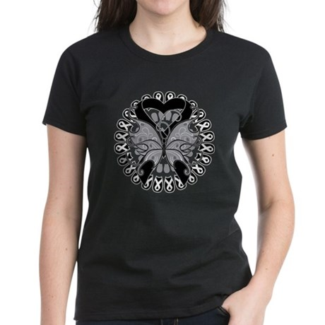 Melanoma Butterfly Women's Dark T-Shirt