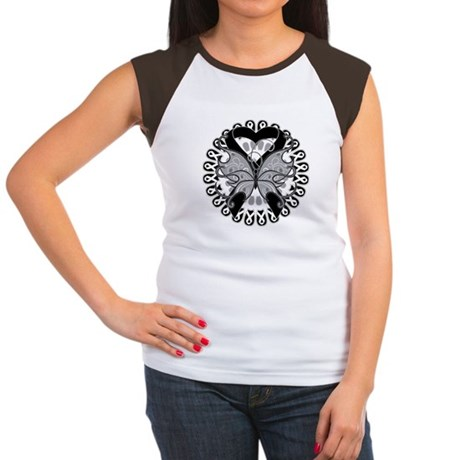 Melanoma Butterfly Women's Cap Sleeve T-Shirt