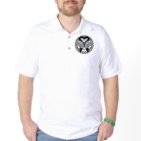 Melanoma Butterfly Golf Shirt