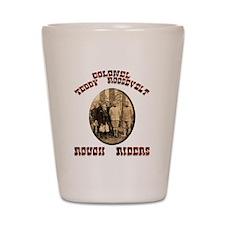 Col Teddy Roosevelt Shot Glass