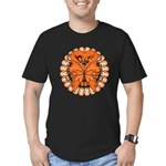 Leukemia Butterfly Men's Fitted T-Shirt (dark)