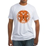 Leukemia Butterfly Fitted T-Shirt