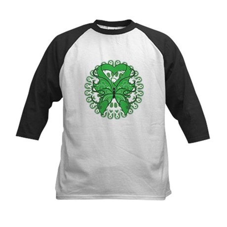 Liver Cancer Butterfly Kids Baseball Jersey