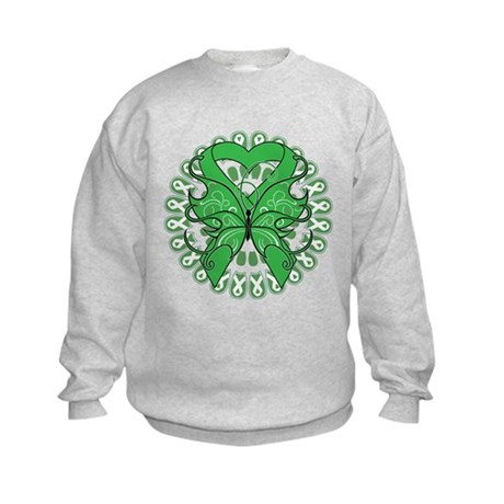 Liver Cancer Butterfly Kids Sweatshirt
