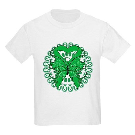 Liver Cancer Butterfly Kids Light T-Shirt
