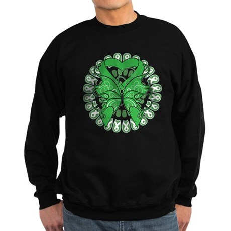 Liver Cancer Butterfly Sweatshirt (dark)