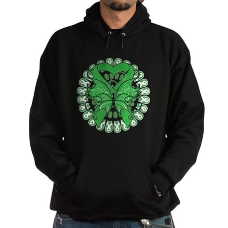 Liver Cancer Butterfly Hoodie (dark)