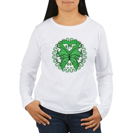 Liver Cancer Butterfly Women's Long Sleeve T-Shirt