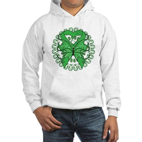 Liver Cancer Butterfly Hooded Sweatshirt